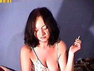Smoking And Jerking Until He Spunk