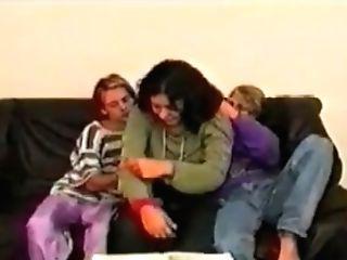 Three Teenager Boys & Woman (retro)