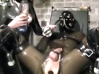 Electric Prick Orgasm! Spandex Fem Dom