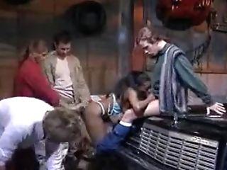 Antique Dark-hued Buttfuck Gang-bang