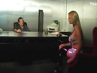 Blonde Adult Movie Star Rails The Dick