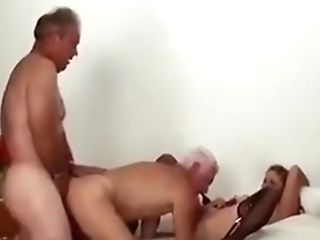 Matures Bisexous Duo Threesome