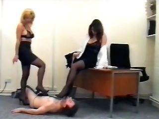 Office Dolls & Railing Mistresses Brit Fem Dom Cruella Abjected Sub