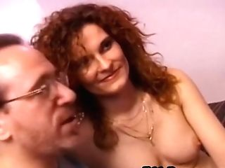 Retro Ginger-haired Fucked And Donk Jizzed By Oldguy