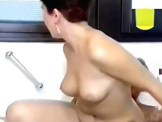 Huge-boobed Brown-haired Fucking In The Bathroom - Julia Reaves
